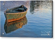 Lonely River Boat  Acrylic Print