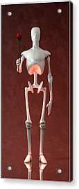 Acrylic Print featuring the digital art Lonely Robot... by Tim Fillingim