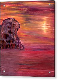 Acrylic Print featuring the painting Lonely Rock by Vadim Levin