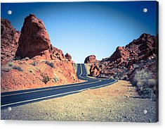 Lonely Southwestern Road Acrylic Print by Laura Palmer
