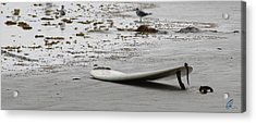 Lonely Surfboard Lg Acrylic Print by Chris Thomas