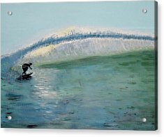Lonely Surfer Acrylic Print