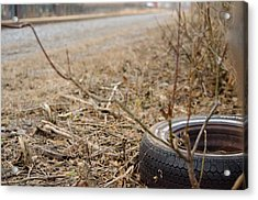 Lonely Tire Acrylic Print