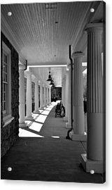Lonely Train Station At Valley Forge Acrylic Print