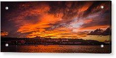 Long Bay Sunset Acrylic Print