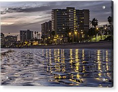 Long Beach Evening Acrylic Print
