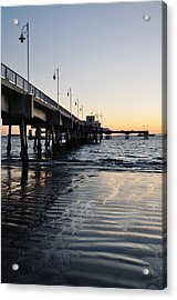 Acrylic Print featuring the photograph Long Beach Pier by Kyle Hanson