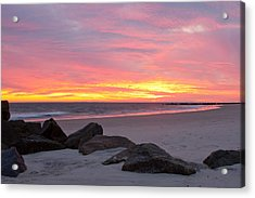 Acrylic Print featuring the photograph Long Beach Sunset by Jose Oquendo