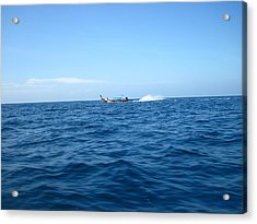 Long Boat Tour - Phi Phi Island - 0113132 Acrylic Print by DC Photographer