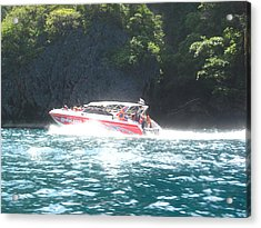 Long Boat Tour - Phi Phi Island - 0113166 Acrylic Print by DC Photographer