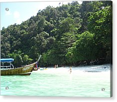 Long Boat Tour - Phi Phi Island - 0113170 Acrylic Print by DC Photographer