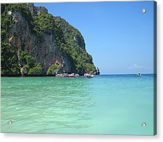 Long Boat Tour - Phi Phi Island - 0113171 Acrylic Print by DC Photographer