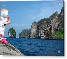 Long Boat Tour - Phi Phi Island - 0113184 Acrylic Print by DC Photographer