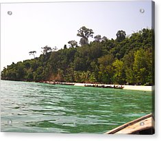 Long Boat Tour - Phi Phi Island - 0113216 Acrylic Print by DC Photographer