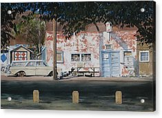 Long Branch Saloon Luning Nevada Acrylic Print by Richard Eaves Woods