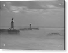 Long Exposure In Oporto In Bad Weather Acrylic Print