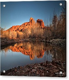 Long Exposure Photo Of Sedona Acrylic Print by Larry Marshall