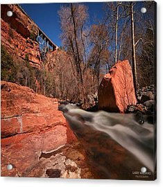 Long Exposure Photo Taken In The Oak Acrylic Print by Larry Marshall