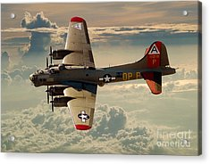 Long Flight Home Of A B-17 Acrylic Print