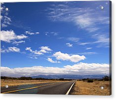 Acrylic Print featuring the photograph Long Highway by Bob Pardue
