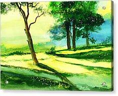 Long Horizon Acrylic Print by Anil Nene