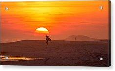 Long Island Surfer Acrylic Print