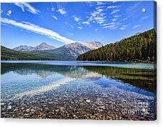 Long Knife Peak At Kintla Lake Acrylic Print by Scotts Scapes