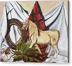 Acrylic Print featuring the painting Long May He Ride by Susan Culver