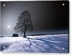 Long Moonrise Shadows Acrylic Print by Larry Landolfi