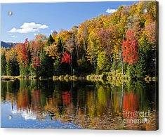 Long Pond Autumn Acrylic Print