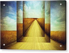 Long Road Home  Acrylic Print by Ann Powell