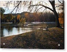 Long Shadows At Canyon Lake Acrylic Print by Dakota Light Photography By Dakota