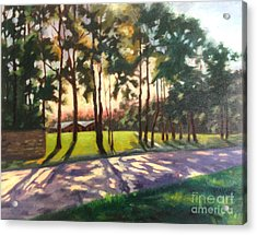 Long Shadows On Longmire  Acrylic Print
