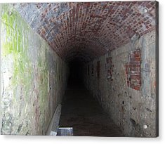 long tunnel in Ft Adams Acrylic Print by Catherine Gagne