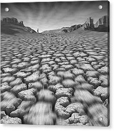 Long Walk On A Hot Day Acrylic Print by Mike McGlothlen