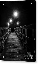 Acrylic Print featuring the photograph Long Walk On A Short Pier by Terry Garvin