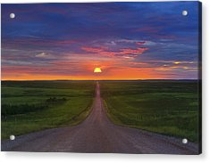 Acrylic Print featuring the photograph Long Way To Go by Kadek Susanto