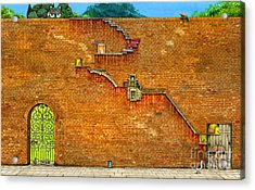 Long Way To The Top Acrylic Print by Colin Thompson