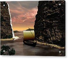 Longboat Acrylic Print by John Pangia