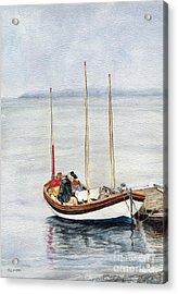 Longboat Acrylic Print by Sandy Linden