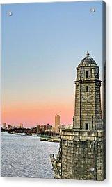 Longfellow Bridge Tower Acrylic Print by JC Findley