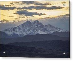 Longs Peak 3 Acrylic Print by Aaron Spong