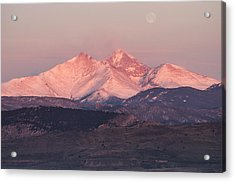 Longs Peak 4 Acrylic Print by Aaron Spong