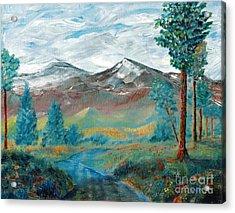 Longs Peak And Mt. Mitchell Acrylic Print by Stephen Schaps