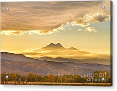 Longs Peak Autumn Sunset Acrylic Print