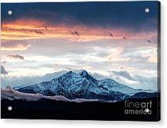 Longs Peak In Winter Acrylic Print