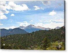 Longs Peak Acrylic Print by Kay Pickens