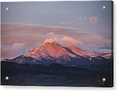 Longs Peak Sunrise Acrylic Print by Aaron Spong