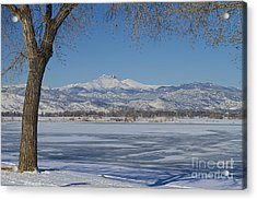 Longs Peaks Winter Landscape View Acrylic Print by James BO  Insogna