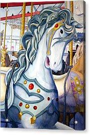 Looff Carousel Acrylic Print by Daydre Hamilton
